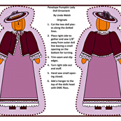 Penelope Pumpkin Lady Cut and Sew Doll