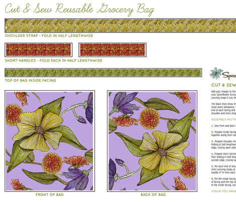 Dogwood Earthday fabric by birdsinpants on Spoonflower - custom fabric