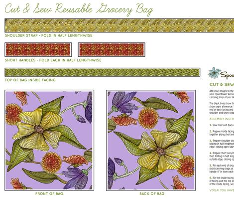Dogwood Earth Day Tote fabric by jennifergeldard on Spoonflower - custom fabric
