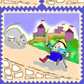 Humpty Dumpty Defends the Castle Wall
