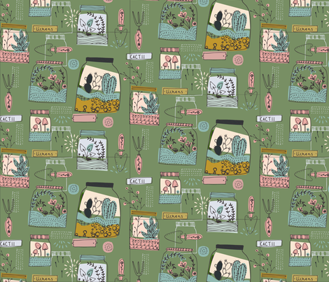 spoonflower_terrarium fabric by bettyjoy on Spoonflower - custom fabric