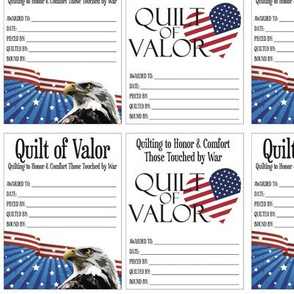 Quilts of Valor Small Labels
