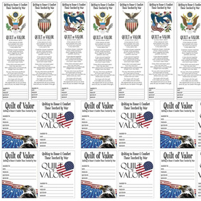 Quilts of Valor small and large labels