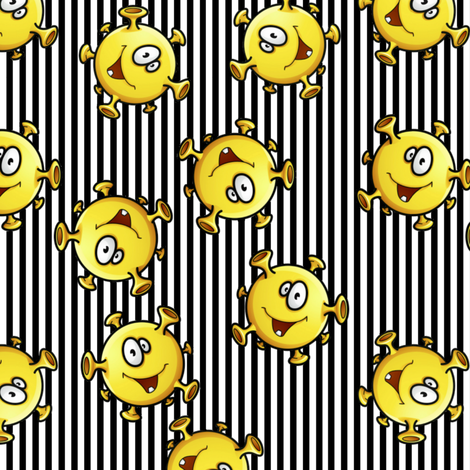 Tiny Monster Balls fabric by whimzwhirled on Spoonflower - custom fabric