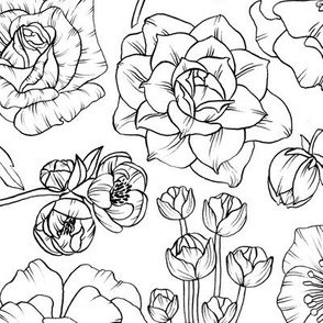 floral coloring-style