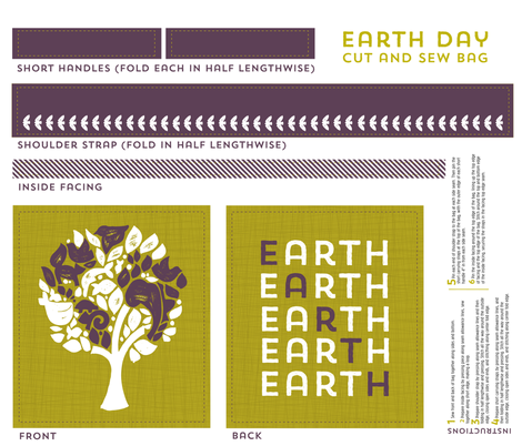 The Earth Tree fabric by addilou on Spoonflower - custom fabric