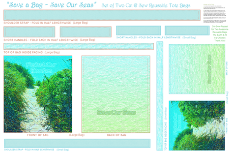 Protect Our Beaches ~ Save Our Seas fabric by spontaneouscombustion on Spoonflower - custom fabric