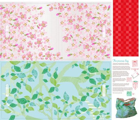the-prunus-bag fabric by owlsquirrel&twobirds on Spoonflower - custom fabric