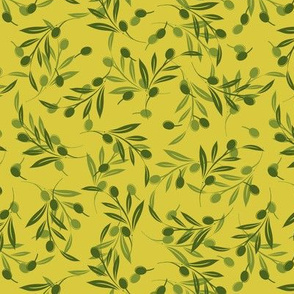 Yellow Olive Pattern