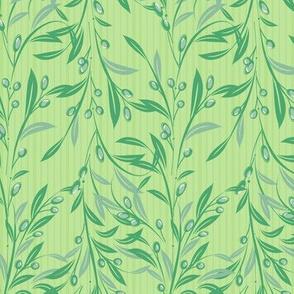 Olive Aqua Leaves