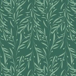 Dark Aqua Leaf