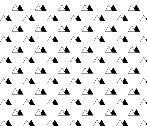 Black and White Triangle Mountains fabric by sierra_gallagher on Spoonflower - custom fabric