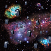 TARDIS in Space (Half Size)
