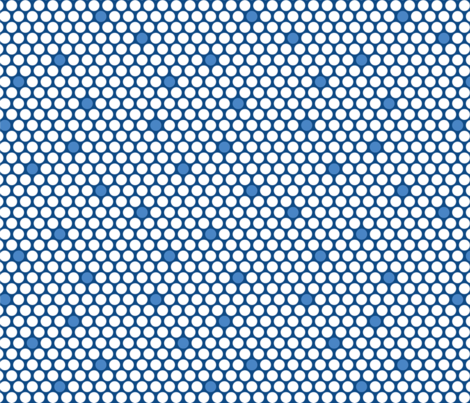 White & Blue Dots fabric by peachblossomdesign on Spoonflower - custom fabric