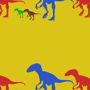 Dinosaur Family Walking