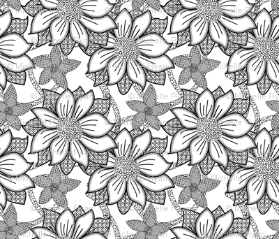 Floral Wallpaper Medium