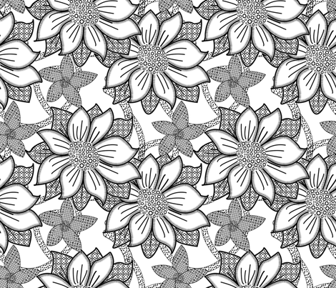 Floral Wallpaper Medium fabric by nezumiworld on Spoonflower - custom fabric