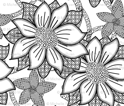 Floral Wallpaper Large