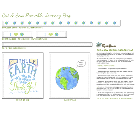 earth_thanks_you_36_x_42 fabric by lisa_long on Spoonflower - custom fabric
