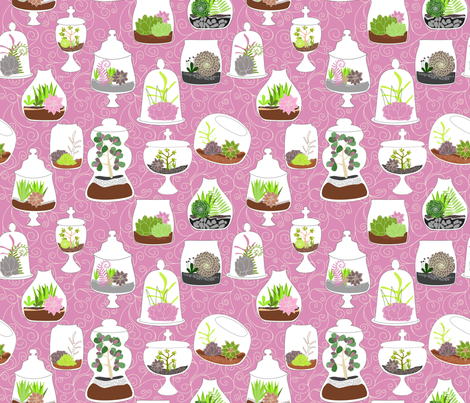 So Many Terrariums, So little Time fabric by meg56003 on Spoonflower - custom fabric