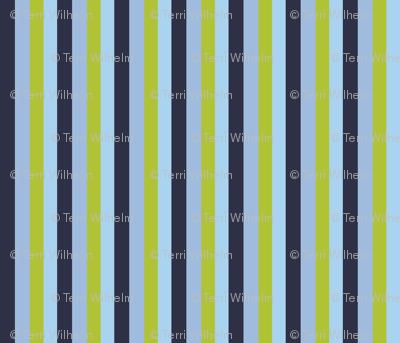 Stripes Blue Green