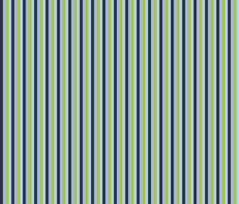 Stripes Blue Green fabric by terriaw on Spoonflower - custom fabric