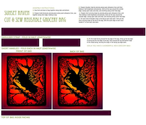 Sunset Raven Cut & Sew Bag fabric by art_rat on Spoonflower - custom fabric
