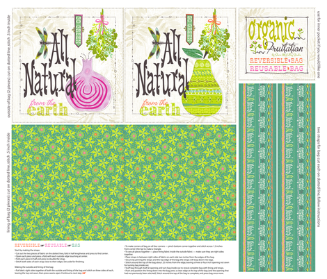 Organic Fruitation Reusable Bag fabric by sheri_mcculley on Spoonflower - custom fabric