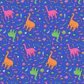 90s print dinosaur geometric planet galaxy print