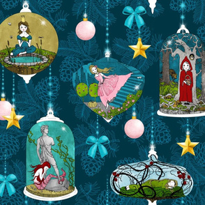 Fairytale Xmas Tree Ornaments (Dark)