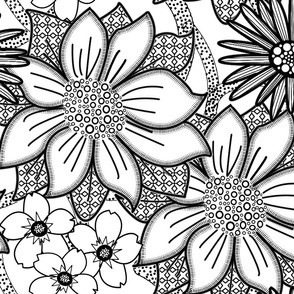 ColourMe Floral Wallpaper Large