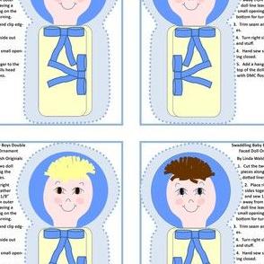 Swaddling Baby Boys Cut and Sew Doll