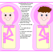 Swaddling Baby Girls Double Faced Cut and SewDoll