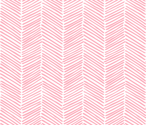 Freeform Arrows Large in soft coral fabric by domesticate on Spoonflower - custom fabric