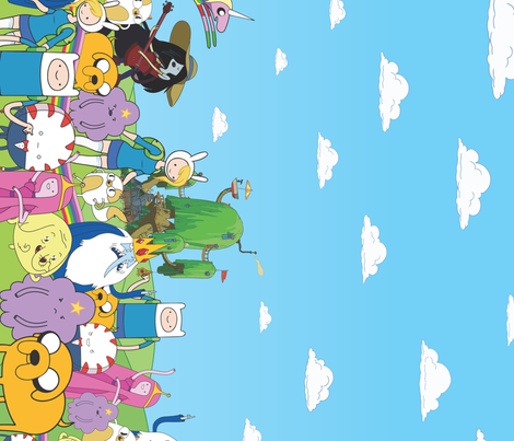 Adventure Time Border Print fabric by electrogiraffe on Spoonflower - custom fabric