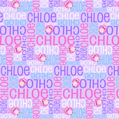 Personalised Name Design - Owls in Purples Pink Aqua
