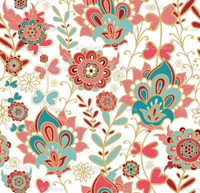 Turkish Paisley Wallpaper Dariara Spoonflower