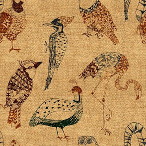 Geo Birds (in Hemp)