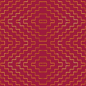 Aztec in Raspberry