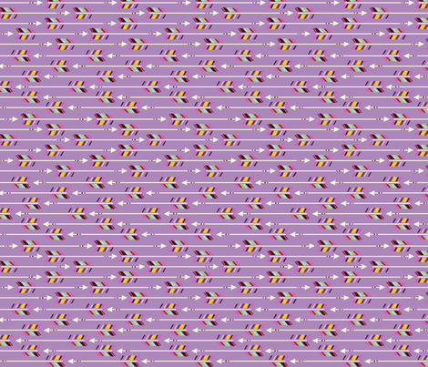 Horizontal Arrows: radiant orchid fabric by nadiahassan on Spoonflower - custom fabric