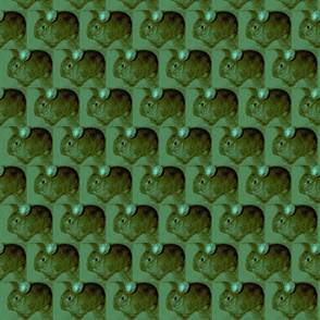 Bunny posterized-green