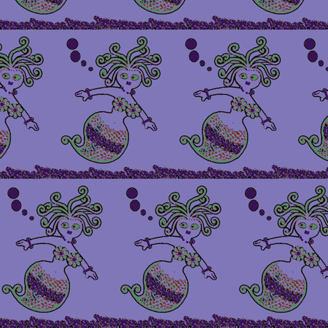 Purple sea girl