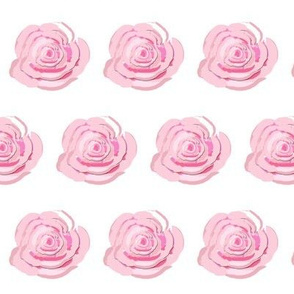 A Shabby Chic Rose on white background