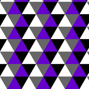 Ace Aware - Triangle Pattern in Asexual Awareness Colors