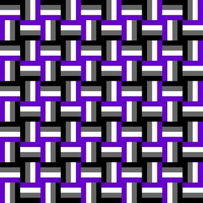 Ace Aware - Woven Pattern in Asexual Awareness Colors