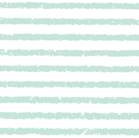 Lullaby Stripes( White/Light Blue-Green)