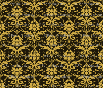 PURRFECT BLACK DAMASK