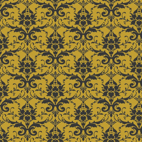 PURRFECT GOLDEN DAMASK