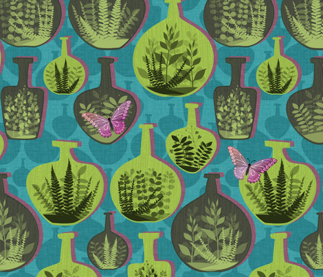 Green Glass Gardens fabric by spellstone on Spoonflower - custom fabric