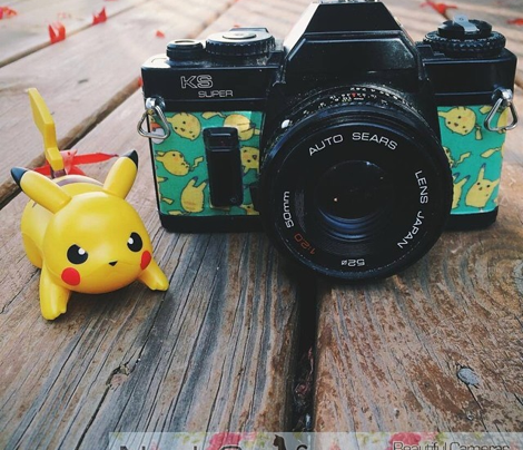 Teal Kawaii Pika Pikachu Pokemon Pokeball Toss Print